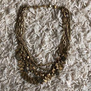 Stella & Dot 3-in-1 Gold Statement Necklace